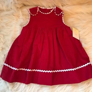 Petit Ami Corduroy Red Dress